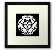 Aleister Crowley Seal - Occult - Thelema Framed Print