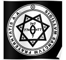 Aleister Crowley Seal - Occult - Thelema Poster