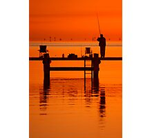 Fishing at Dawn Photographic Print