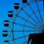 Blue Ferris Wheel by Yip Huang