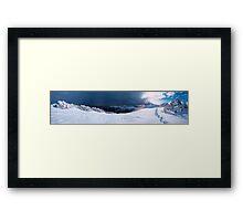 Sun, Snow, and Storm Framed Print