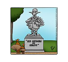 "Funny ""Spectickles"" Thanksgiving Cartoon Photographic Print"