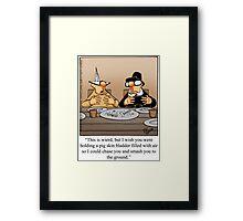 """Funny """"Spectickles"""" Thanksgiving Football Cartoon Framed Print"""