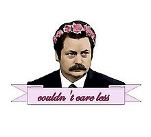 Ron Swanson Cartoon Couldn't Care Less Photographic Print