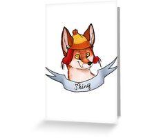 Fandom Foxes! - Shiny Greeting Card