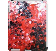 Vagabond red black white contemporary abstract painting iPad Case/Skin