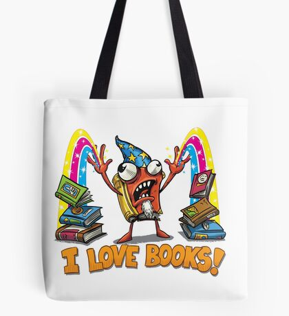 The Mighty Book Wizard! Tote Bag