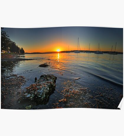 Lake Macquarie Sunset Poster