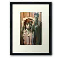The Striped Room Framed Print