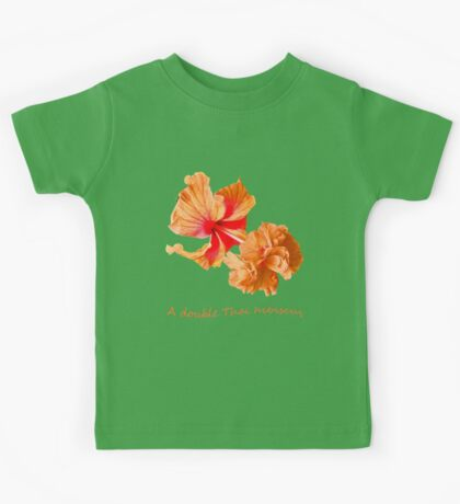 A double Thai hibiscus Kids Tee