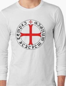 Knights Templar 12th Century Seal - Holy Grail - templars - crusades - V2 Long Sleeve T-Shirt