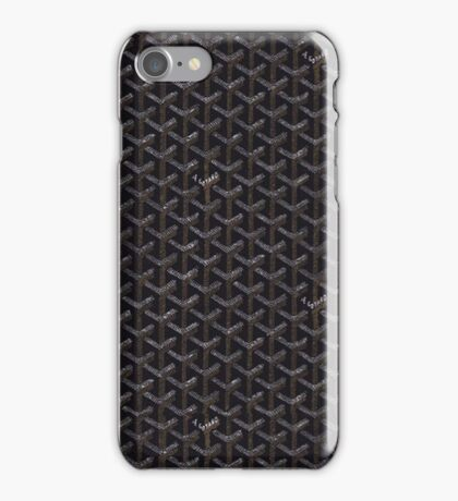 Goyard Black iPhone Case/Skin