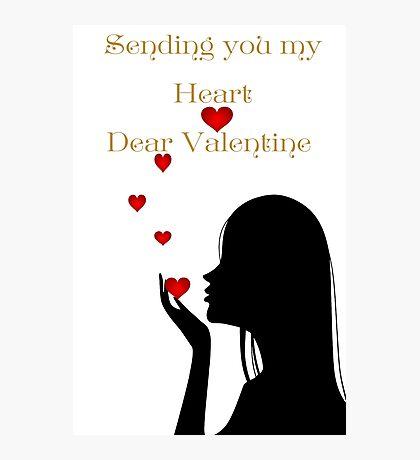 Sending you My Heart Photographic Print