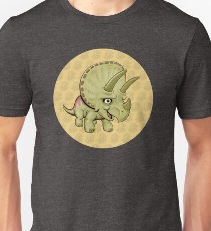 Cute Triceratops with pattern Unisex T-Shirt