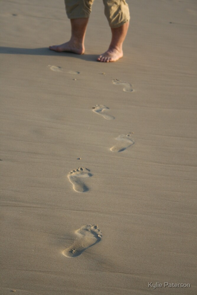 Footprints in the sand by Kylie Paterson