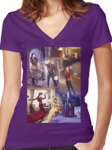 Once Upon A Time - main cast Women's Fitted V-Neck T-Shirt