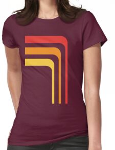 70's Rainbow Womens Fitted T-Shirt