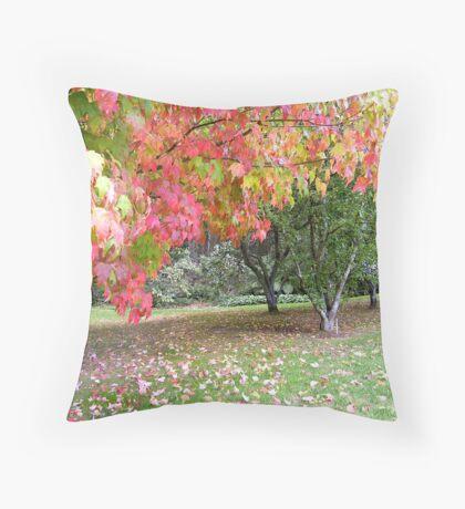 Autumn in Macedon Throw Pillow