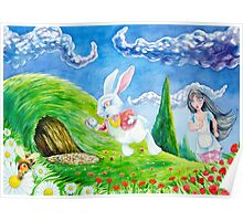 Oh dear! I shall be late! (Alice and the White Rabbit) Poster