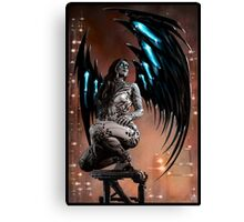 Robot Angel Painting 003 Canvas Print