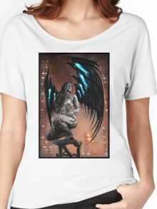 Robot Angel Painting 003 Women's Relaxed Fit T-Shirt