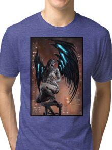 Robot Angel Painting 003 Tri-blend T-Shirt