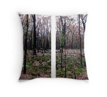 four square forest Throw Pillow