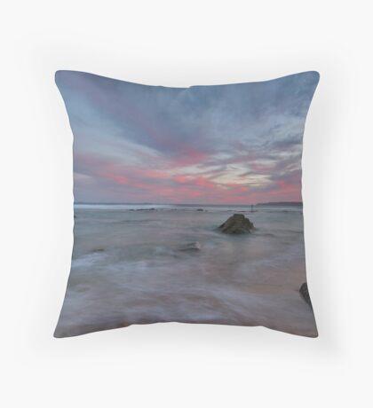 bar beach Newcastle nsw Throw Pillow