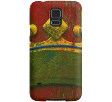 Ancient Wood Texture with Real Crown Samsung Galaxy Case/Skin