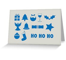 Christmas symbols - ho ho ho Greeting Card