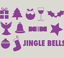 Christmas symbols - jingle bells by rperrydesign