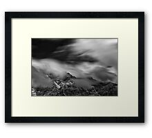 Silence and Storm Framed Print