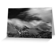 Silence and Storm Greeting Card
