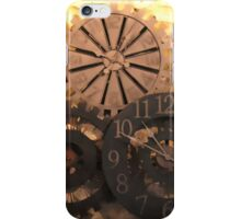 Metal Clocks on Stone Wall iPhone Case/Skin