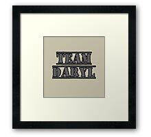 Team Daryl Framed Print