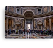 The Pantheon of Rome Revisited Canvas Print