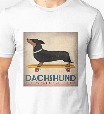 Dachshund Longboards Unisex T-Shirt