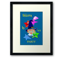 Toon Boy 6b Welcome to My Wizard Party Framed Print