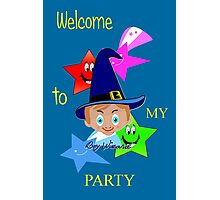 Toon Boy 6b Welcome to My Wizard Party Photographic Print
