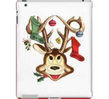 Reindeer Antlers and Christmas Stockings Greeting Cards iPad Case/Skin