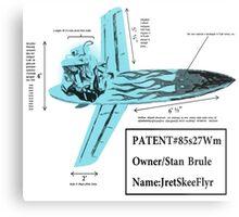 Stan Brule Flying Surfboard Blueprints Design by SmashBam Metal Print