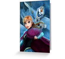 Anna Frozen Greeting Card