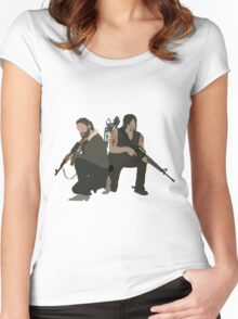 Daryl Dixon and Rick Grimes - The Walking Dead Women's Fitted Scoop T-Shirt