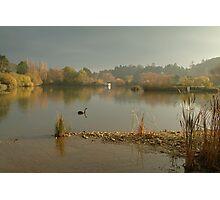 Autumn Fog, Lake Daylesford Photographic Print