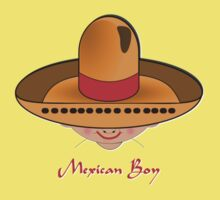 Toon Boy 8 Mexican T-shirt design Kids Clothes