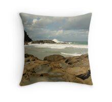 Parker Hill Beach,Great Ocean Road Throw Pillow