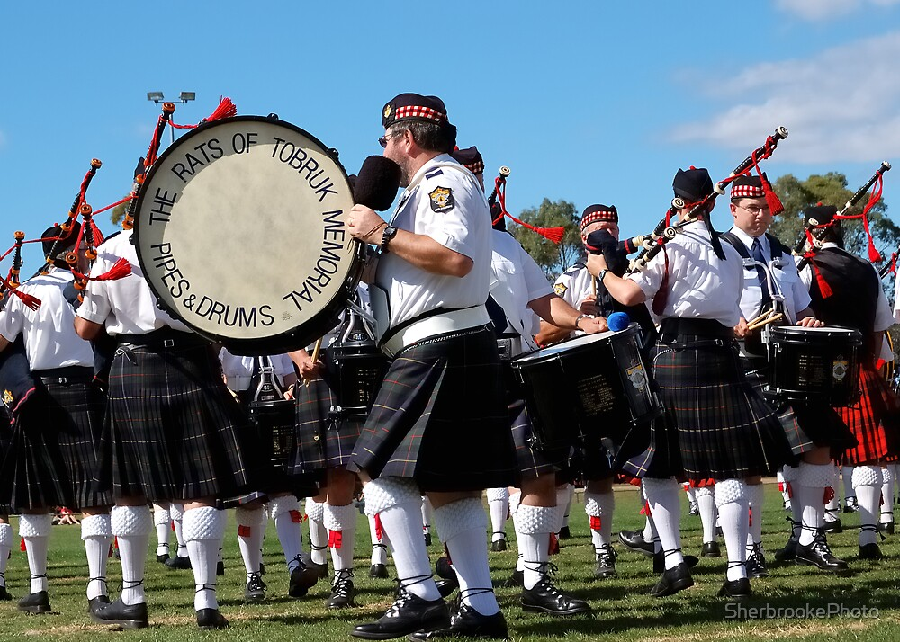 Rats of Tobruk Pipes and Drums by SherbrookePhoto