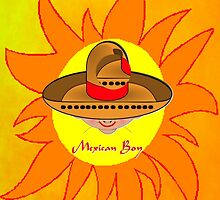Toon Boy 8b Mexican Boy in the Sun iPhone case design by Dennis Melling