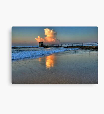 Morning Clouds at Merewether Baths Canvas Print