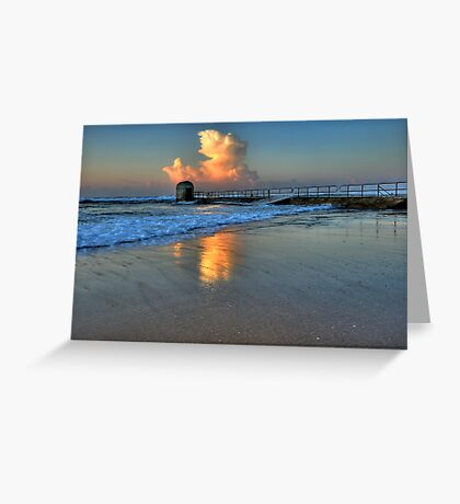 Morning Clouds at Merewether Baths Greeting Card